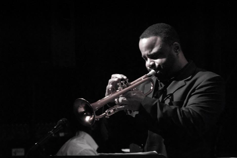 Mark Du Pont/JSU - Lester Walker plays the trumpet and was the featured guest artist during the Jazz Showcase last week sponsered by the music department.