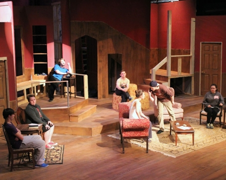 """(Drama Department/JSU) """"The Mousetrap"""" is based on Christie's short story """"Three Blind Mice,"""" a murder mystery set  in a snowy British winter."""