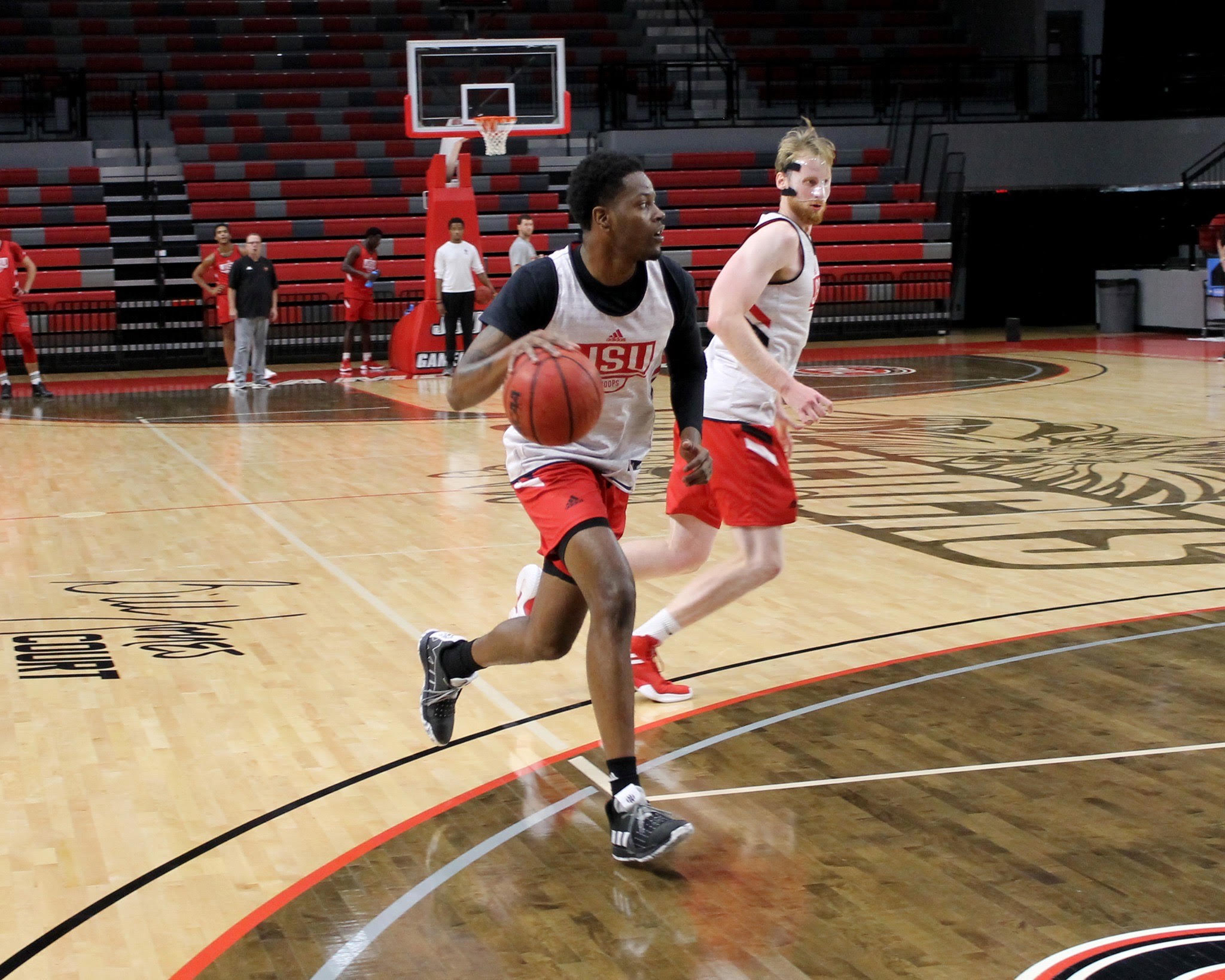 The JSU men's basketball team begins practice in preparation for the 2019-2020 season. (Courtesy of JSU Athletics)
