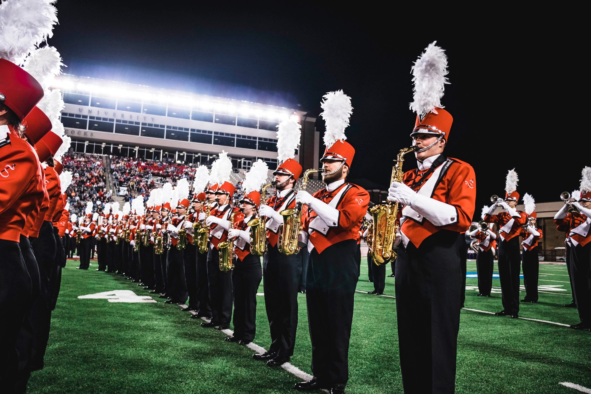 The Marching Southerners perform at the Contest of Champions on Saturday, October 12. (Sydney Williams/JSU)