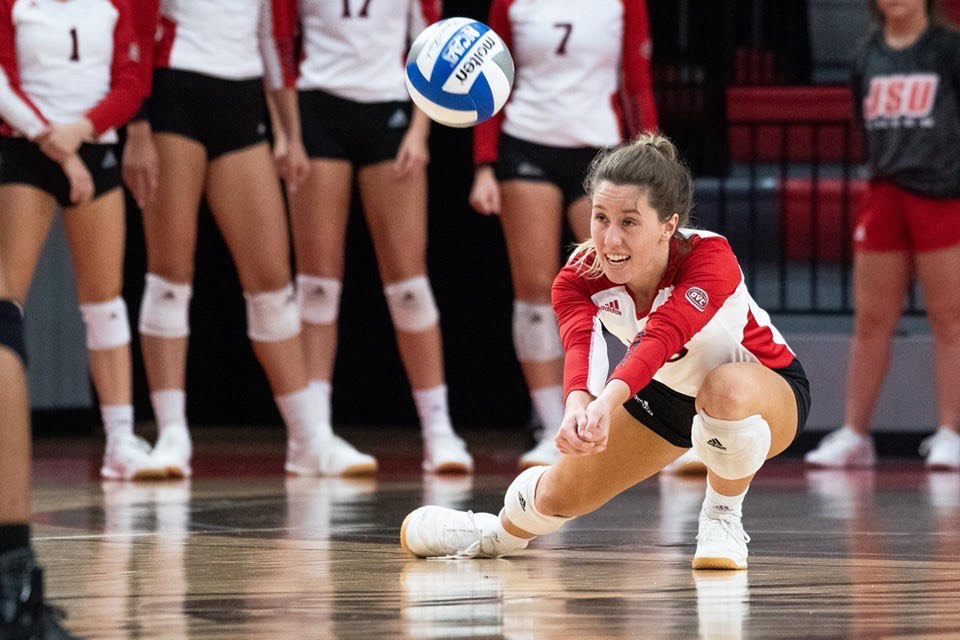 Gamecock volleyball began their conference play this past week, beginning their run of four straight Ohio Valley Conference matches. (Courtesy of JSU Athletics)