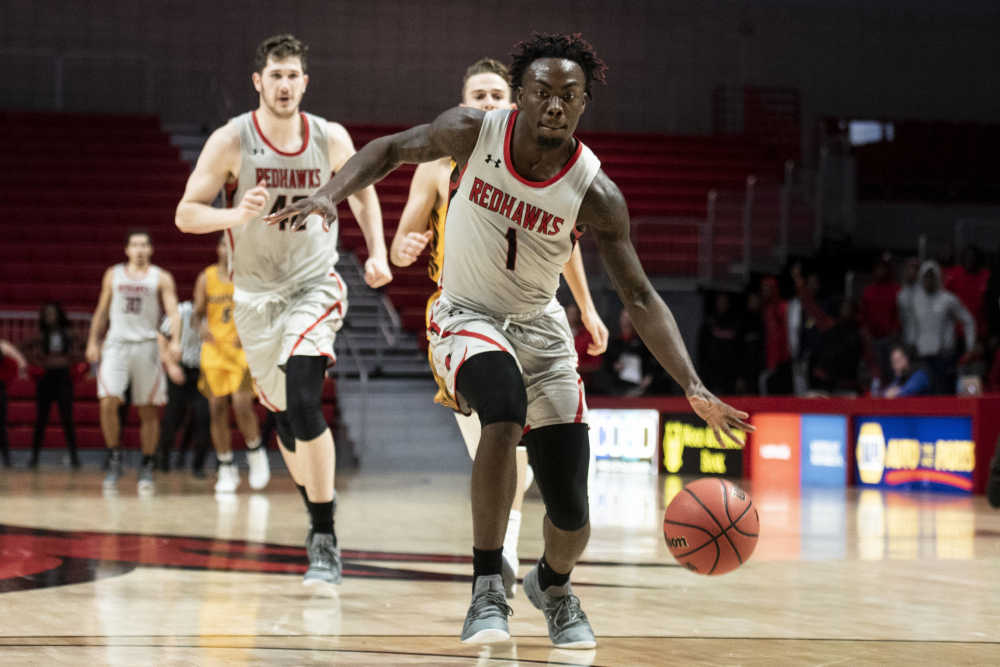 Southeast Missouri State guard Khalil Cuffee drives to the basket during a game earlier in his tenure with the program at the Show Me Center. Cuffee was dismissed from the program Friday. (Courtesy of SEMO)