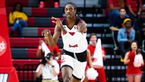 Junior forward Kanye Henry (11), pictured, finished with 20 points and nine rebounds. (Courtesy of JSU)