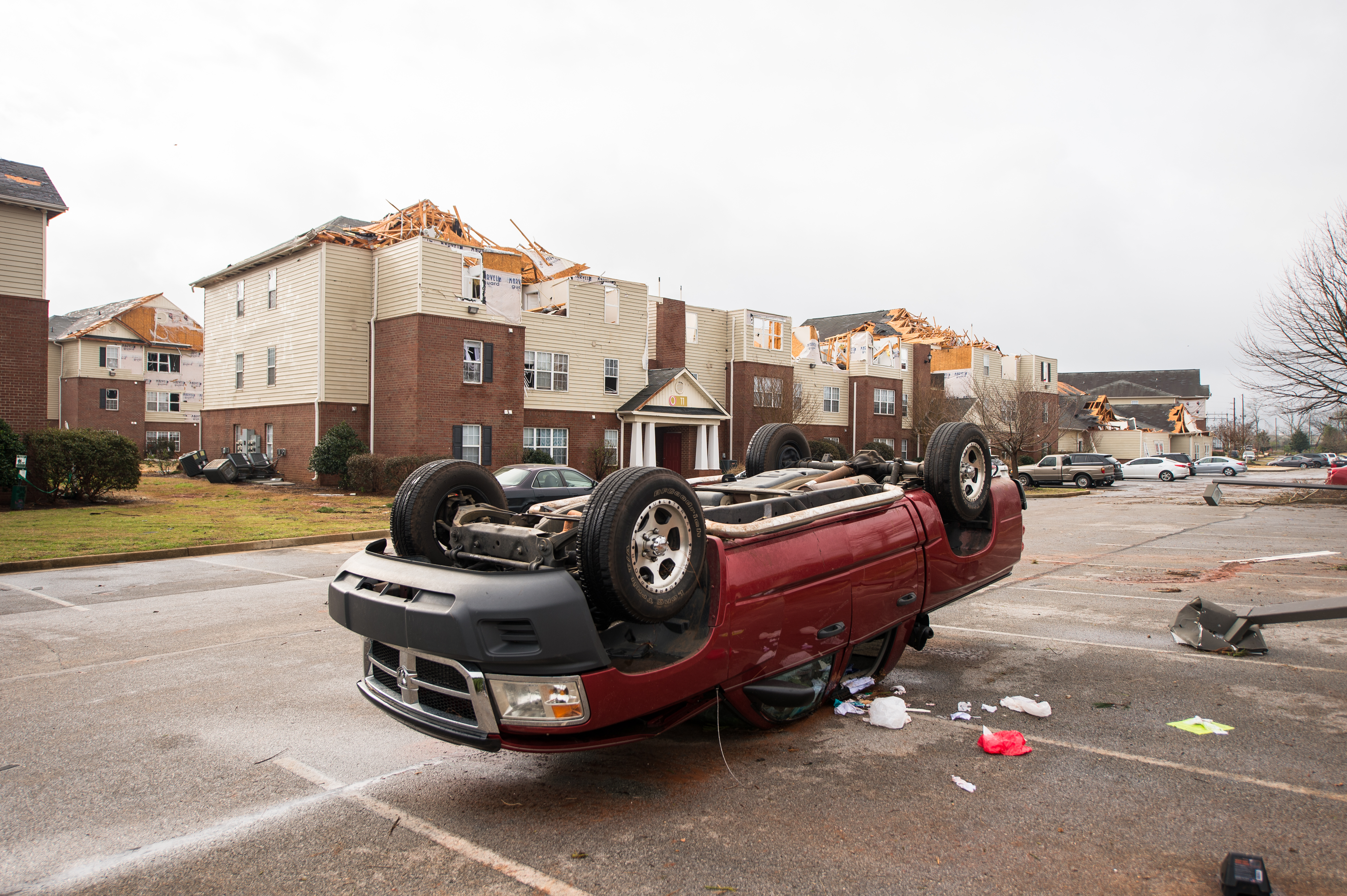 On Monday, March 19, 2018, Jacksonville was struck by an EF-3 tornado that ravaged parts of town and JSU's campus. (Matt Reynolds/JSU)