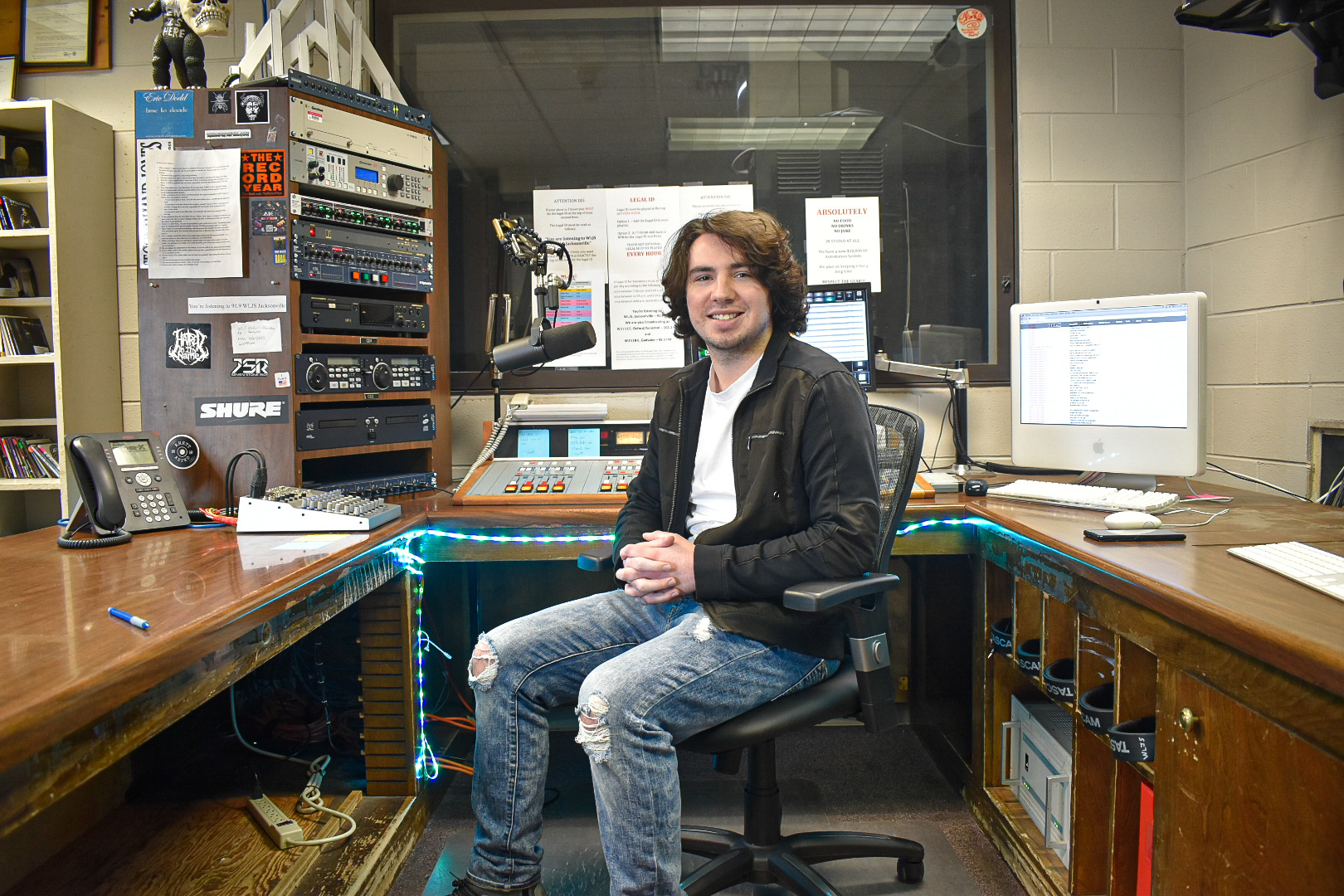 Grant Davis, pictured, has been the program director of the official radio station of Jacksonville State University (WLJS, 91.9 FM) since May 2019. (Courtesy of WLJS)