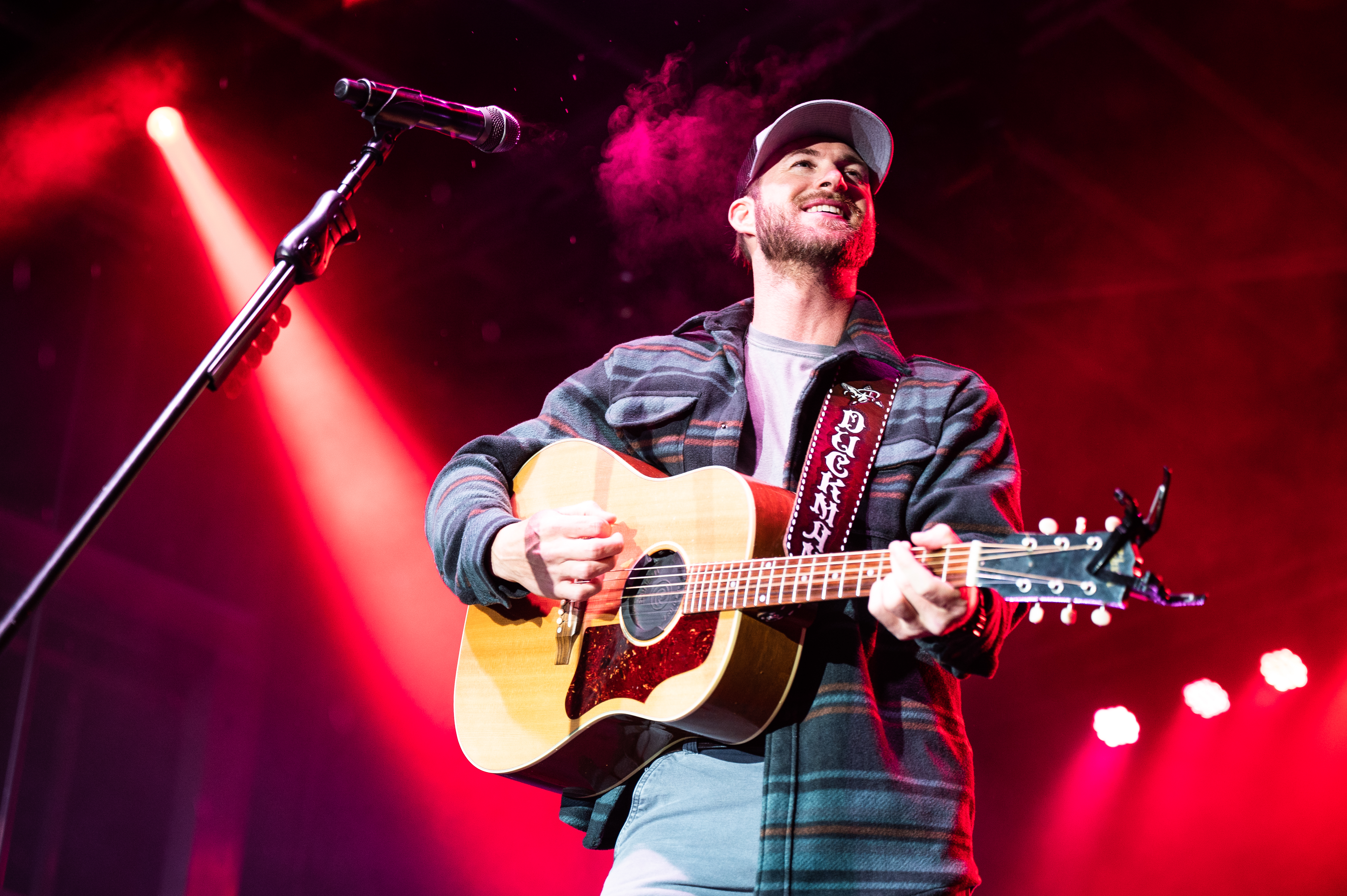 Riley Green performs at The Riley Green and Friends Benefit Concert held on Nov. 14, 2019 in the Jim Case Stadium at Jacksonville State University. Green has won his first big award for 55th ACM Awards. (Matt Reynolds/JSU)