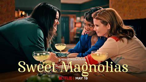 The Sweet Magnolias Netflix series is based on the book series written by Sherryl Woods. (Courtesy of Amazon)