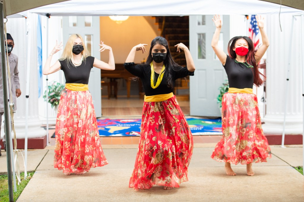 Members of International House perform at United Nations Day Tea 2020 on Sunday. (Matt Reynolds/JSU)