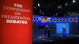 The second presidential debate was canceled due to President Donald Trump's refusal to participate in a virtual debate. (Jim Watson/AFP/Getty Images)