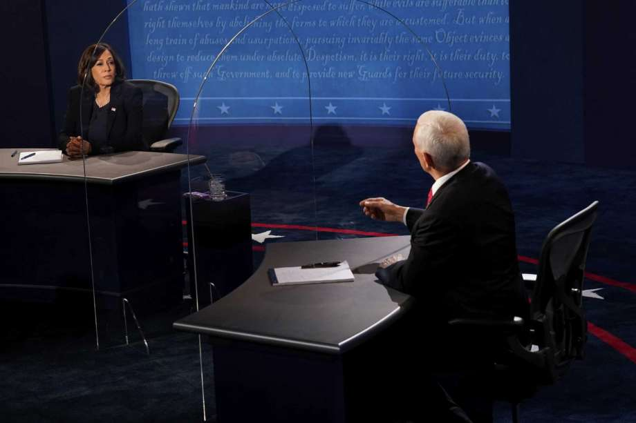 Vice President Mike Pence and California Senator Kamala Harris participate in the only vice presidential debate of the 2020 election. (Courtesy of Laredo Morning Times)