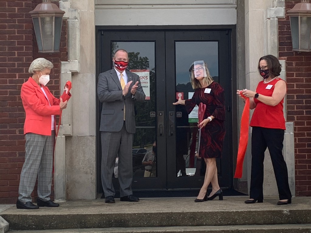JSU faculty cut the ribbon on new renovations in Stephenson Hall. (Coley Birchfield/The Chanticleer)
