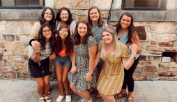 Members of Sigma Alpha Omega, a Christian sorority at JSU, pose for a photo. (Courtesy of MacKenzie Taylor)