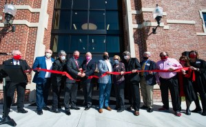 A ribbon cutting was held for the newly renovated Mason Hall on Monday. The new features of the space include renovated practice rooms for students and a new recital hall. (Matt Reynolds/JSU)