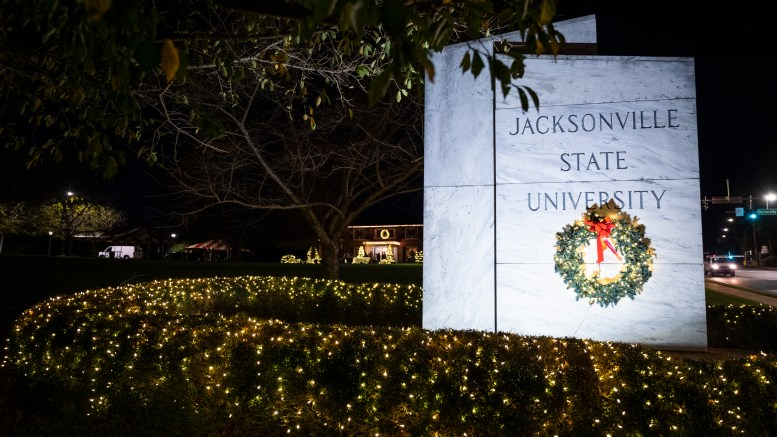 JSU hosted its annual 'JSU in Lights' event on Tuesday, marking the start to the holiday season on campus. (Matt Reynolds/JSU)
