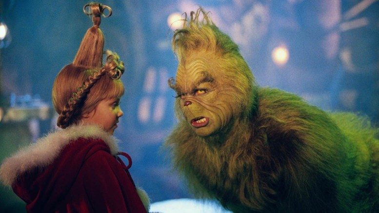 "Jim Carrey plays the Grinch in ""How the Grinch Stole Christmas."" (Courtesy of Dazed)"