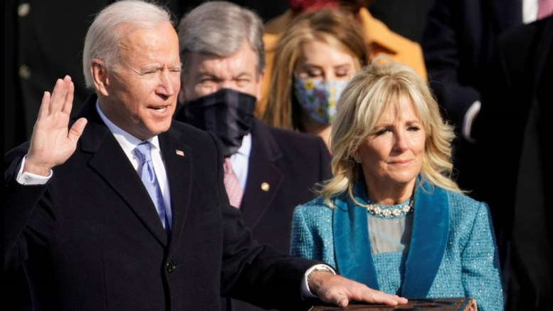 Joe Biden was sworn in as the 46th president of the United States on Jan. 20. (Courtesy of CBC)