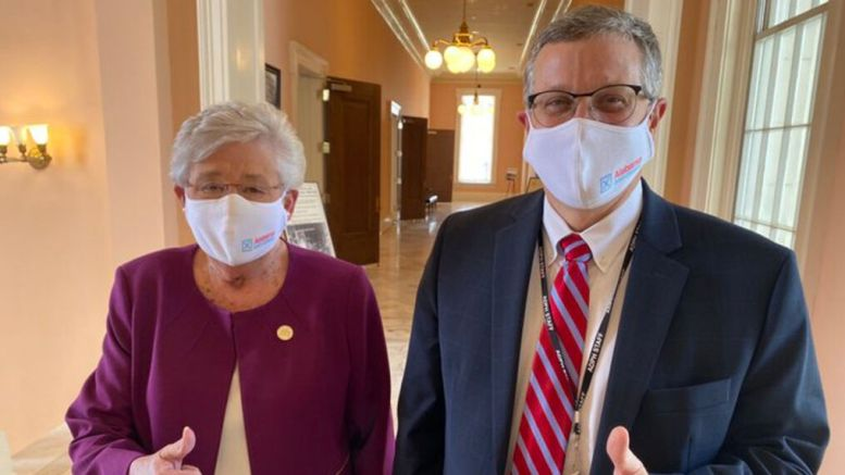 Governor Kay Ivey announced in a press conference on Thursday that the mask ordinance in Alabama would be extended until March 5 with no changes made. (Photo courtesy of NBC 15 News)
