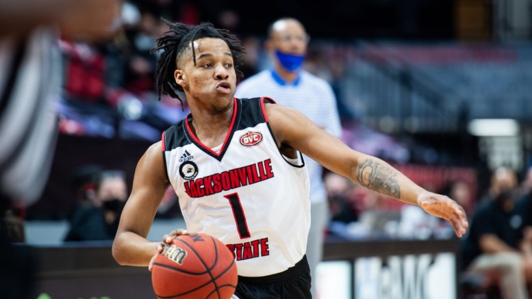 The JSU men's basketball team squeaked by Murray State by three points on Thursday. (Grace Cockrell/JSU)
