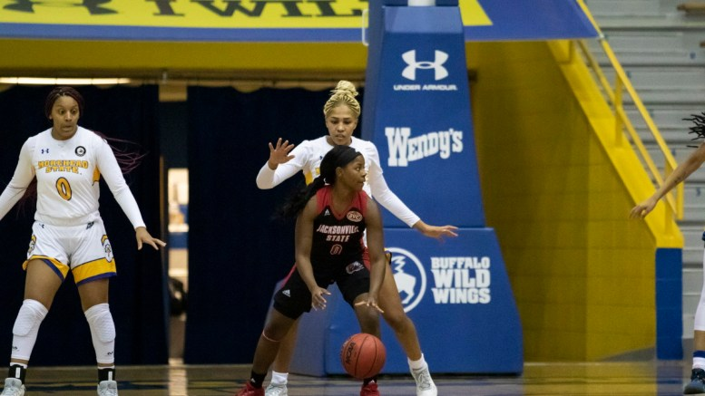 JSU women's basketball team scores victory in their final game against Morehead State. (Photos Courtesy of Morehead State)