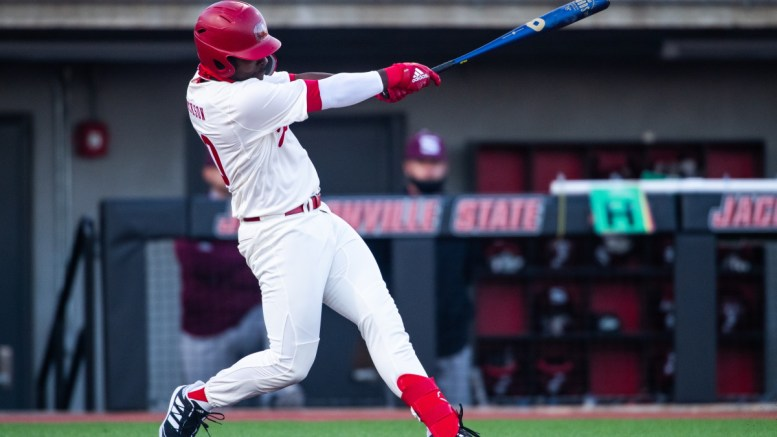 Jacksonville State baseball ushered in its 2021 season this weekend with the Robin tournament, falling short with two losses and one win. (Matt Reynolds/JSU)