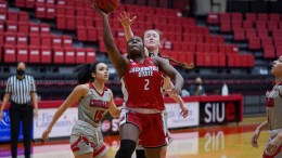 Lady Gamecocks come out on top in the fourth quarter against Southern Illinois University at Edwardsville. (Courtesy of JSU)