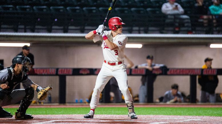 The Jacksonville State baseball team fell to Samford 10-9 on Wednesday, March 3. (Courtesy of JSU)