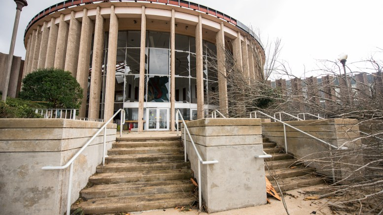 JSU and the surrounding community was hit by a EF-3 tornado on March 19, 2018, severely damaging 23 buildings and impacting 50 more. Thankfully, the spring break tornado did not result in any loss of life. (Matt Reynolds/JSU)