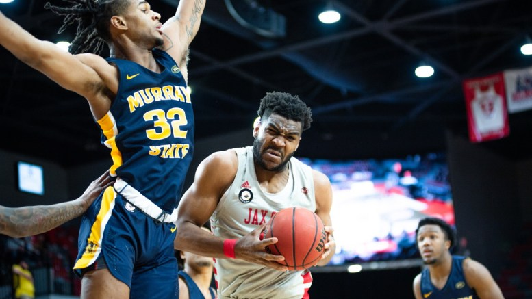 The Jacksonville State men's basketball team defeated Murray State in OT last Thursday, 68-65. (Courtesy of JSU)