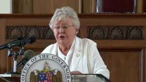 Alabama Governor Kay Ivey announced on Thursday that the state's mask order would end on April 9. (Courtesy of WTVY)