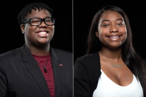 Daniel Washington, pictured left, and Jewelishia Johnson, pictured right, have been elected to serve as SGA's vice president of student senate and vice president of public relations, respectively. (Courtesy of JSU)