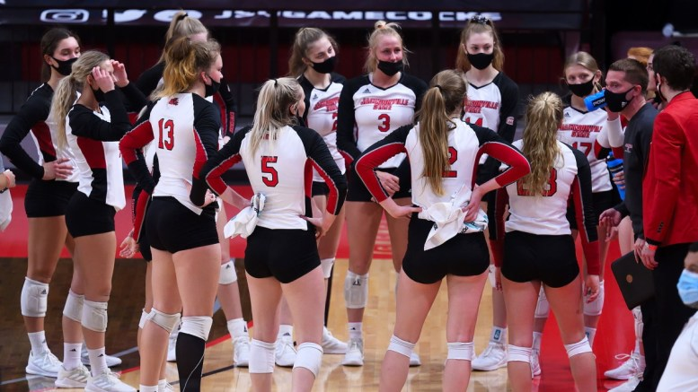 JSU Volleyball caps off record-setting season, coming up short in OVC Championship game. (Courtesy of JSU)