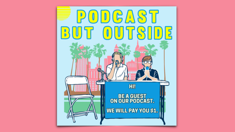 """""""Podcast But Outside"""" is a Spotify podcast hosted by Andrew Michaan and Cole Hersh. (Courtesy of Podcast Review)"""